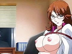Anime nurse getting facial and taking a cock