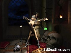 Satanic creatures, big dicked ogres, aliens and tentacles fucking hot 3D babes, schoolgirls and a captive elf princess