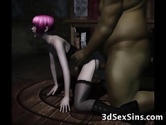 Evil ogres scary werewolves and disgusting aliens fucking hot 3d girls and cute elven princesses