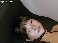 Bound animated girl rammed