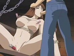 Sexy hentai babe tied up and used harshly